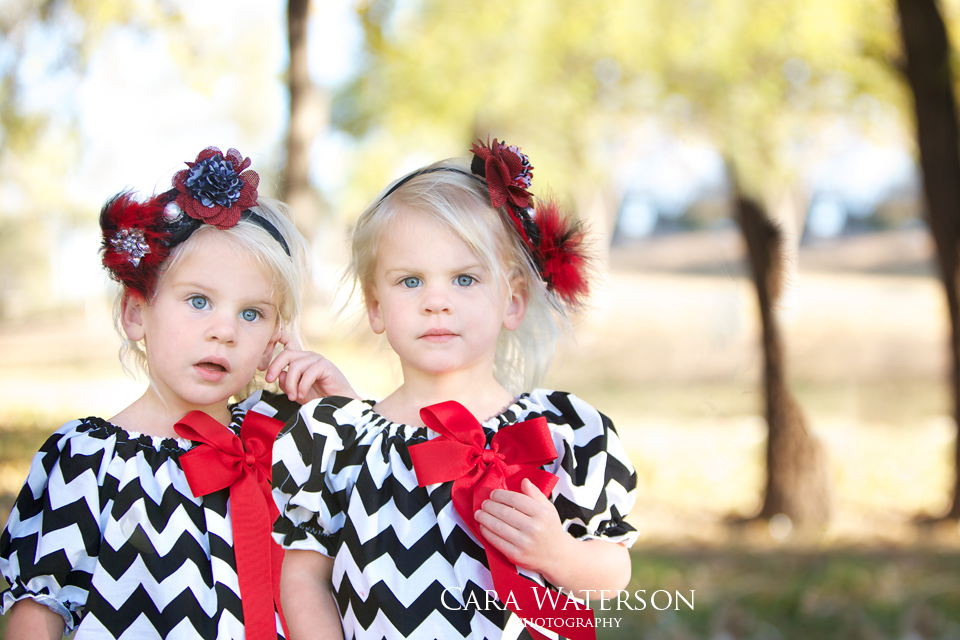 twin girls in the park