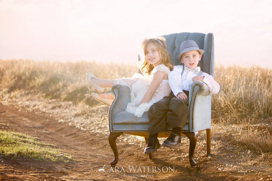 kids on a chair