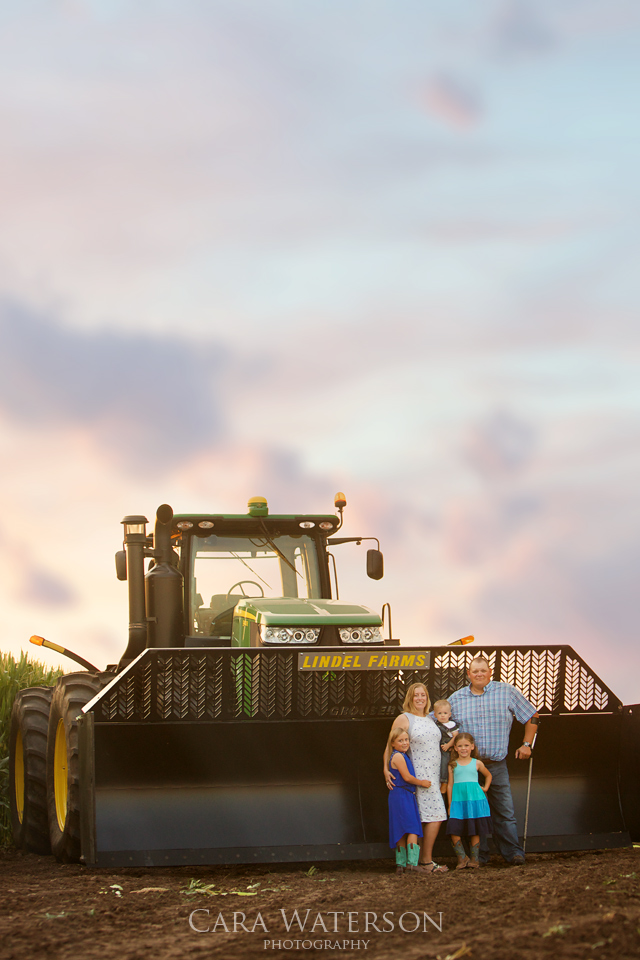 family and their tractor