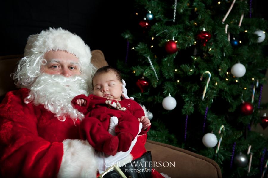 2 week old with santa