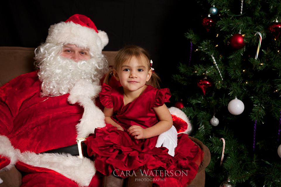 girl on santas lap