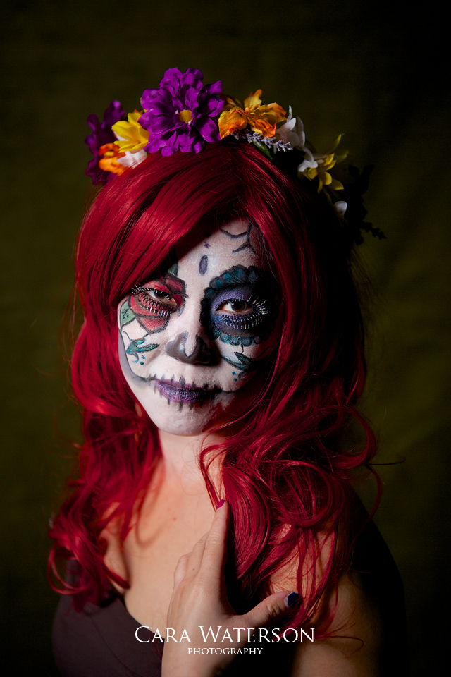 red haired sugar skull