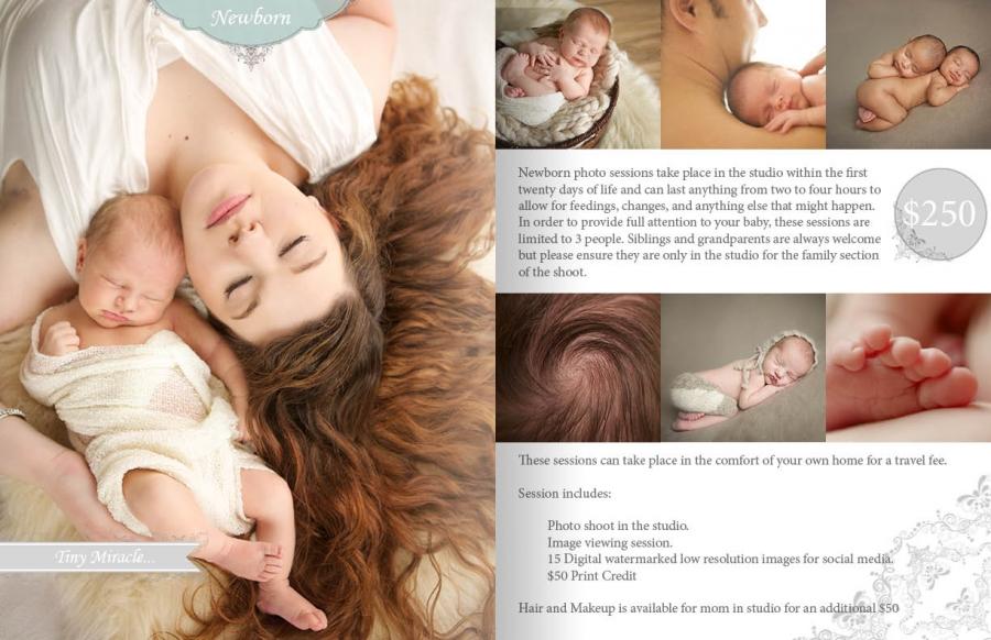 Newborn Pricing guide 2015