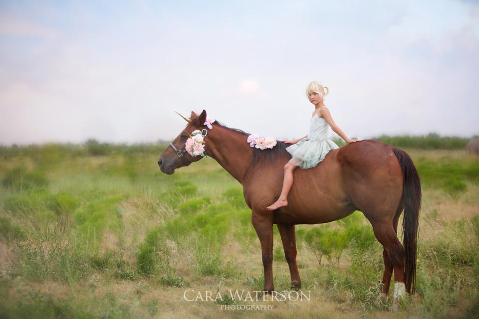 girl on a unicorn