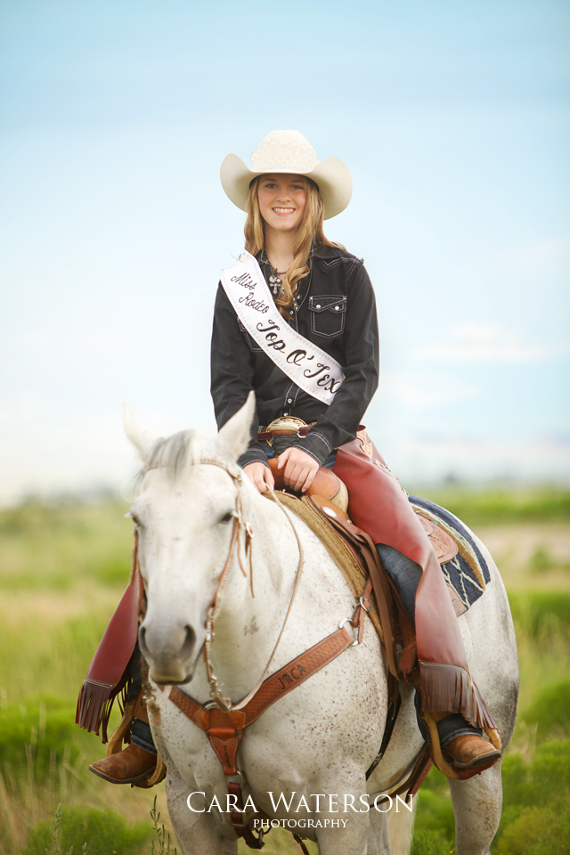 rodeo queen on horseback