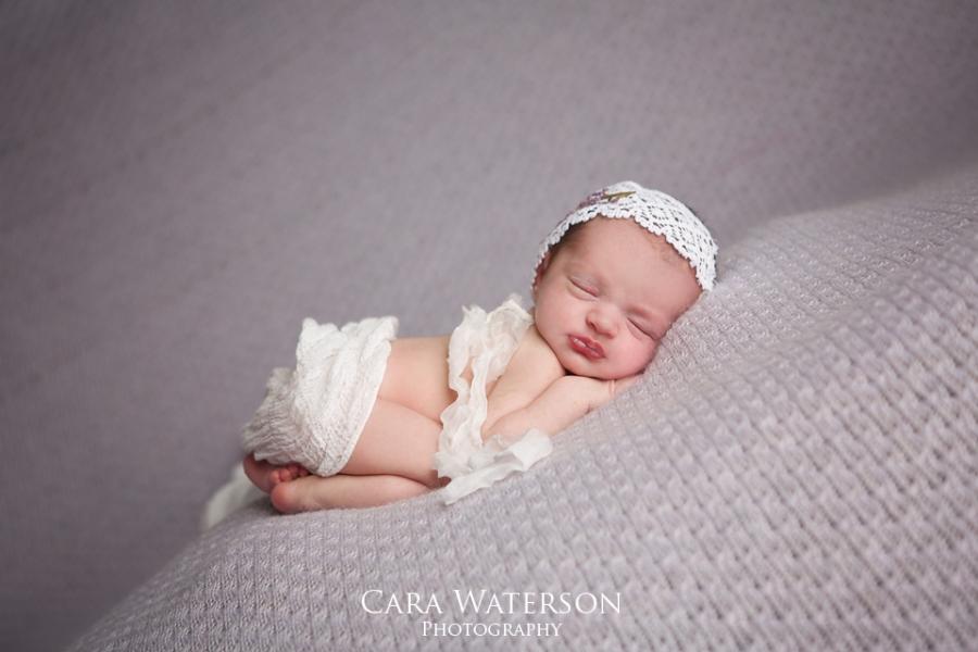 newborn girl on lavandar